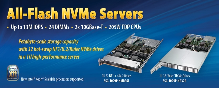 All-Flash NVMe Servers